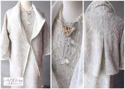 White Sequin Easy Jacket
