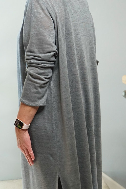 KNIT LINEN LONG DUSTER