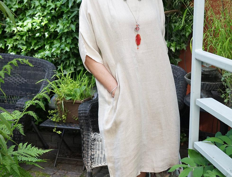 Classic Linen Straight Dress
