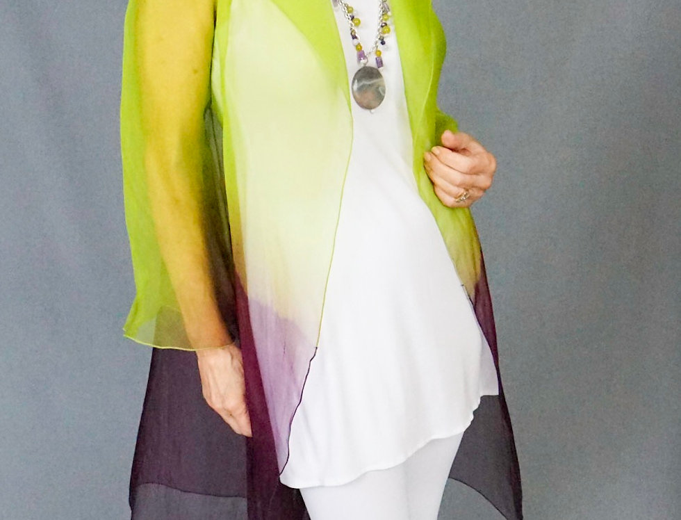 Two Toned Silk Organza Jacket