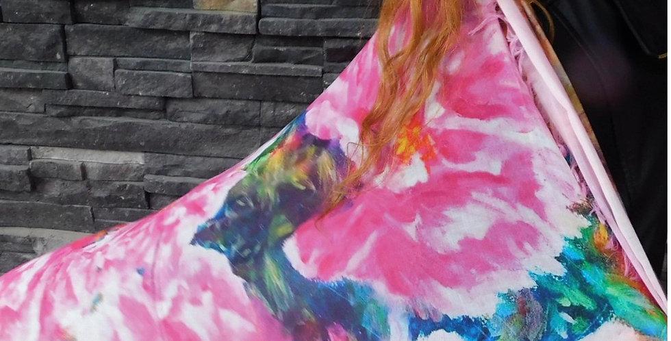 A Cheerful Heart - Peonies Silk Scarf