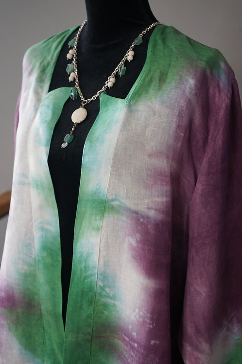 HAND DYED LINEN JACKET