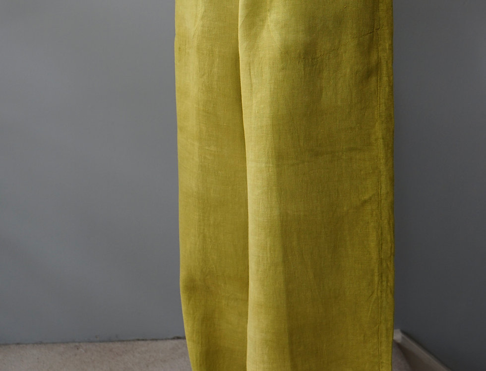 HAND DYED LINEN PANTS