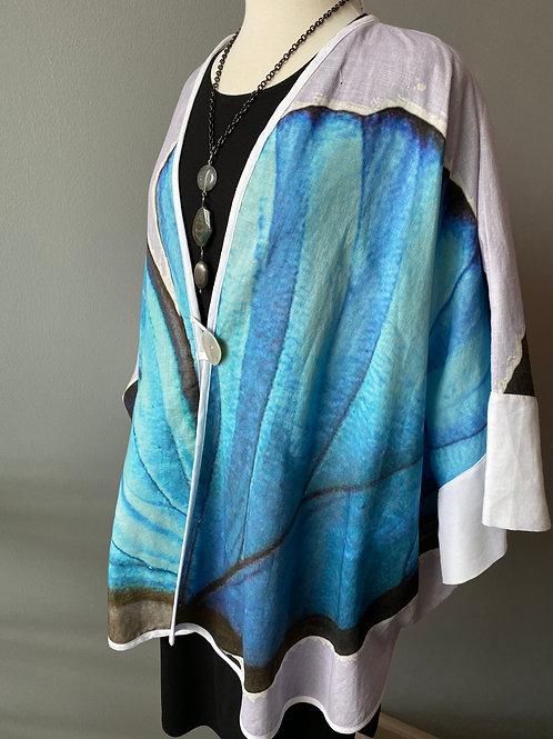 Blue butterfly coat