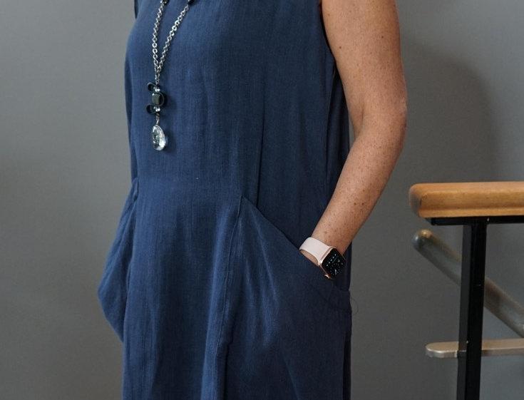 EASY POCKET LINEN DRESS
