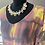 Thumbnail: White Leather & Yellow Jade Necklace