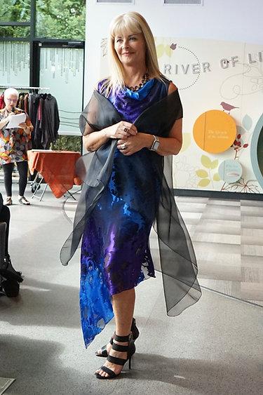 Asymmetrical Silk Blend Bias Dress