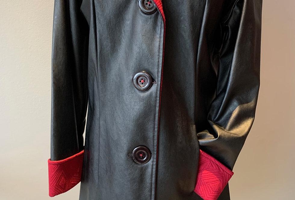Classic Raincoat (Black/Red)