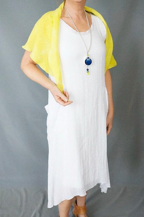 V shaped  linen shawl