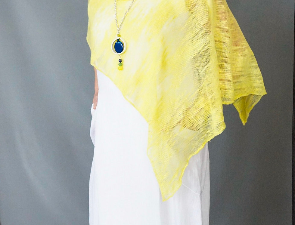Lemon hand knit wrap