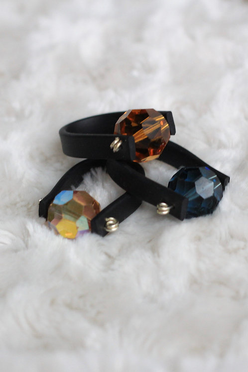 CHUNKY CRYSTAL RUBBER RING