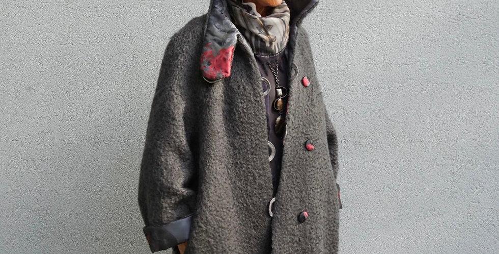 Reversible Wool/Satin Jacket