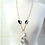 Thumbnail: Crystal & Black Agate Pendant Necklace