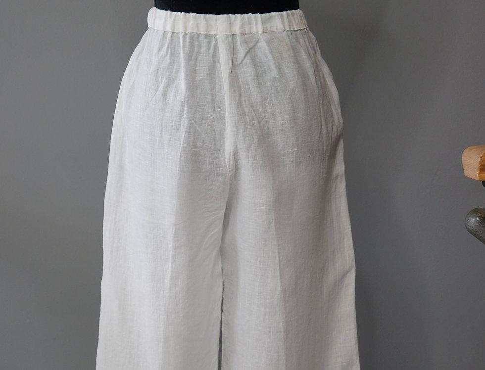 Dip Dyed Emerals Linen Pants