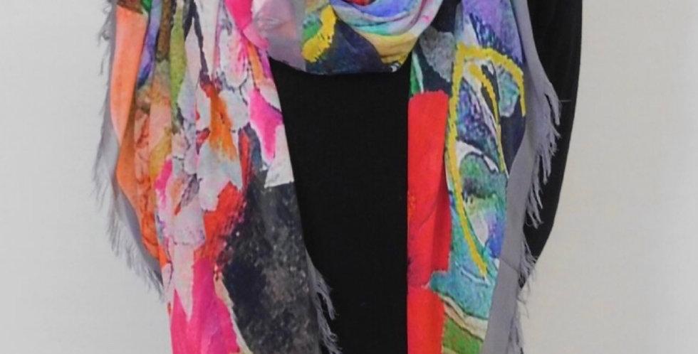 Rainbows of Living Colour Tucan Silk Scarf