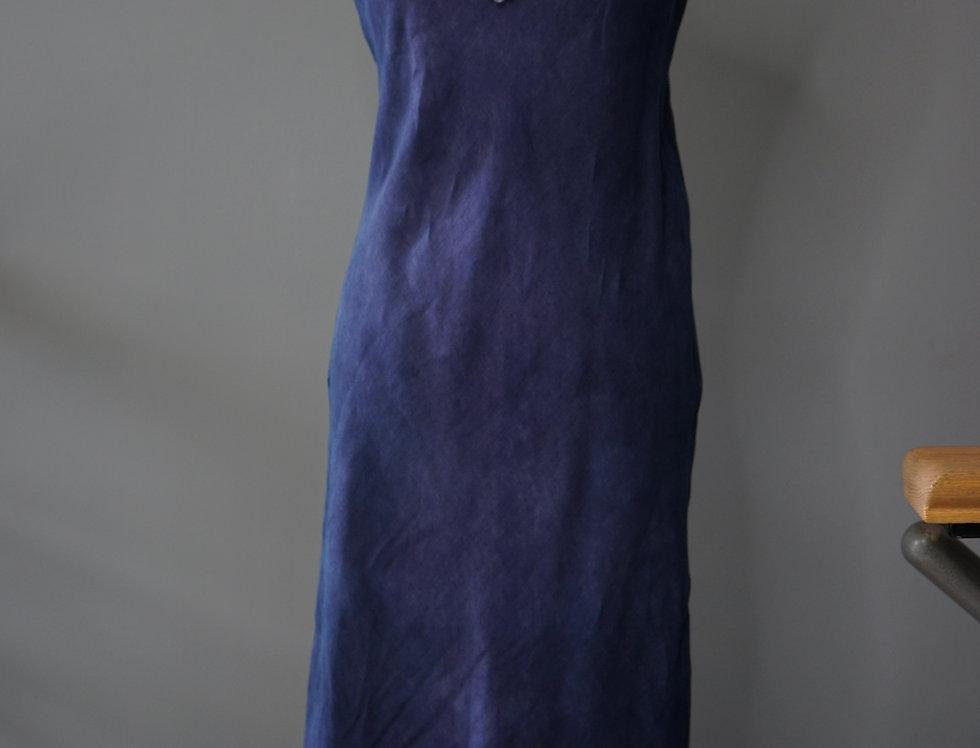 Deep Purple Linen Bias Dress