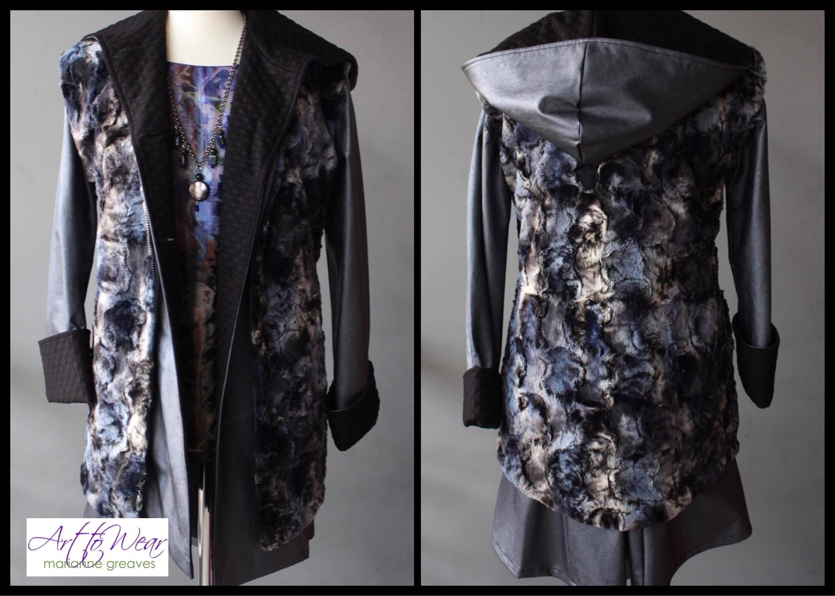 Reversible Faux Fur Vest & Raincoat