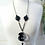 Thumbnail: Ombre Acrylic Swirl Pendant Necklace