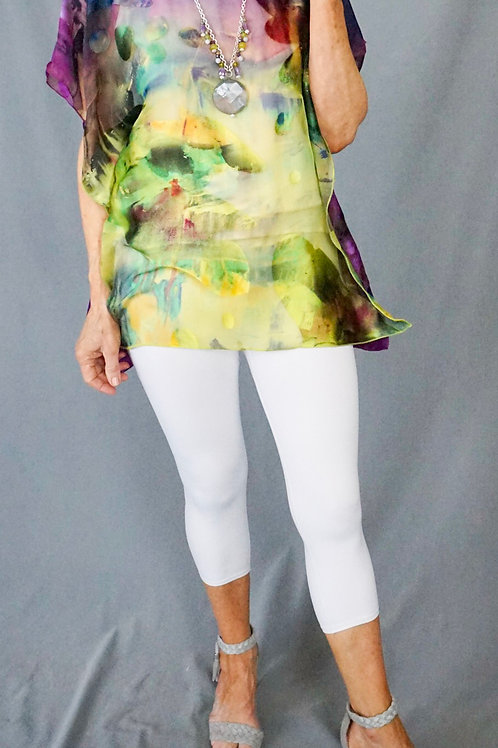 Easy Hand Dyed cut silk shorter tunic
