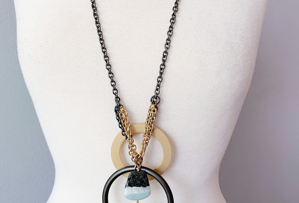 One Of  A Kind Double Disc Necklace