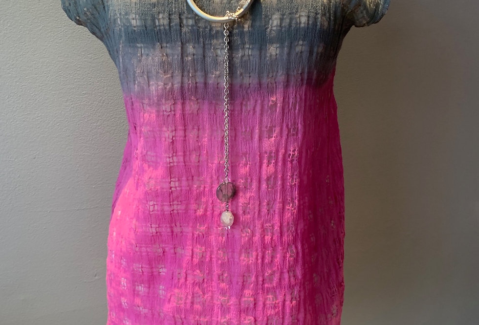 Linen Mesh Hand Dyed Tunic