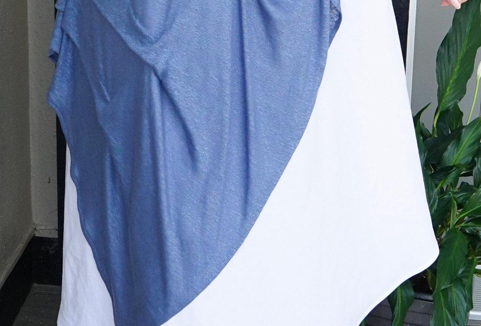 Asymmetrical Knit Linen Skirt