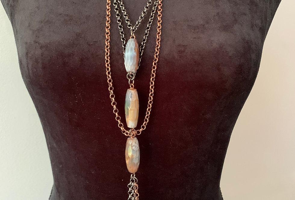 Copper & Gunmetal Chain Necklace