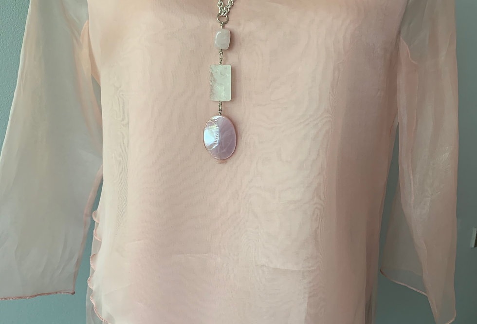 Silk Organza Asymmetrical Tunic