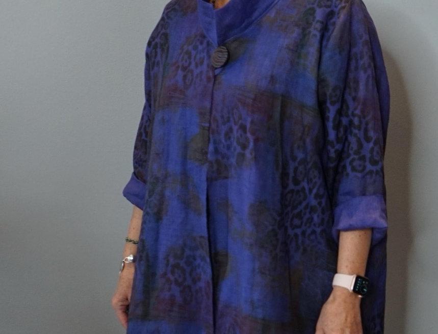 Sophisticated Linen Collar Coat