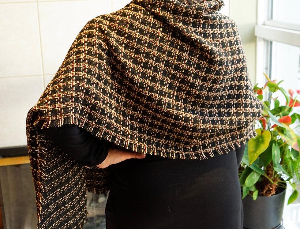 Classic Dark Chocolate Tweed Wrap