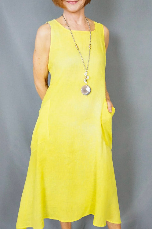 Hand Dyed Linen Dress