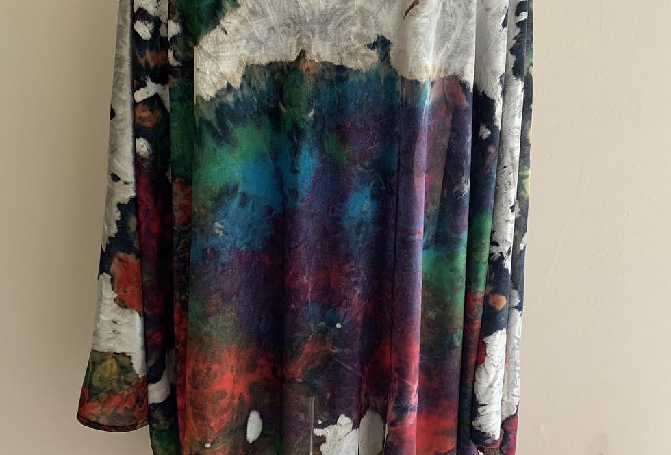 Multi Colour Silk Devore O/S Tunic