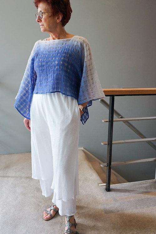 Double cropped knit linen pant