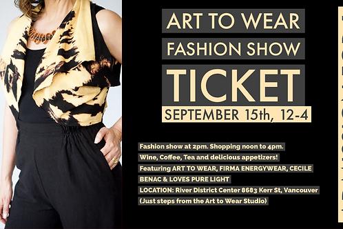 1 Art to Wear Fashion Show Ticket