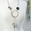 Thumbnail: Crystal & Rubber Wave Lariat Necklace