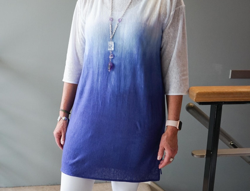 Knit Linen Ombre Tunic