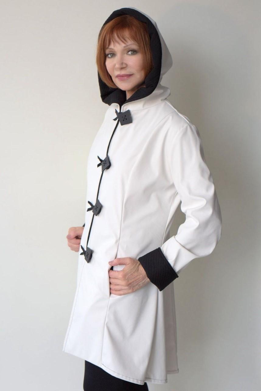 White raincoat inside
