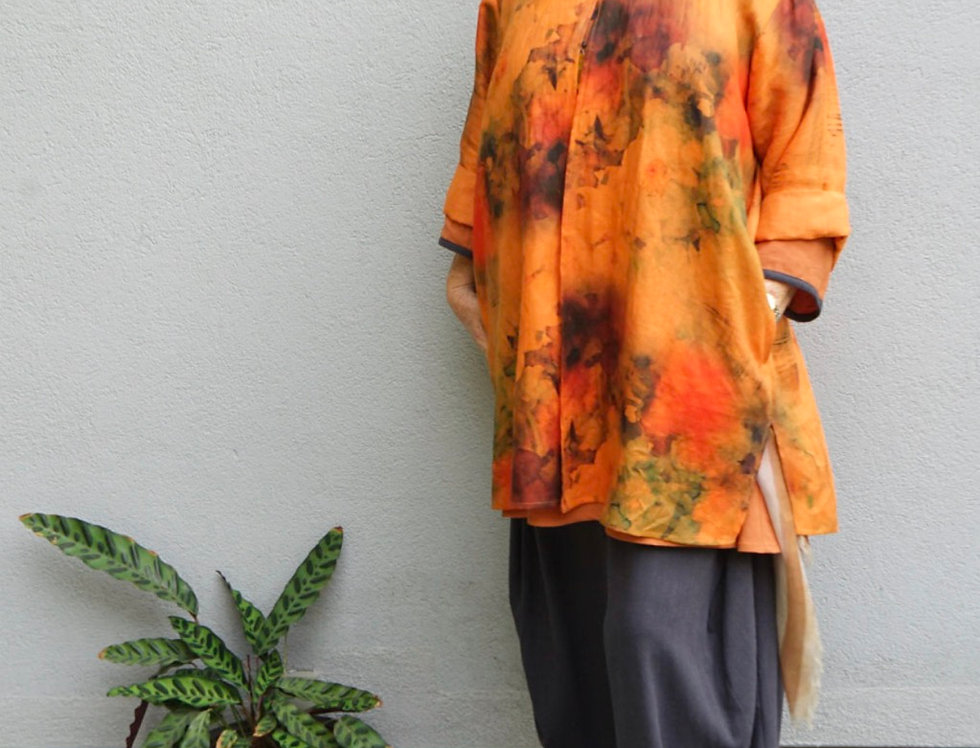 Hand Dyed Safari Button Coat