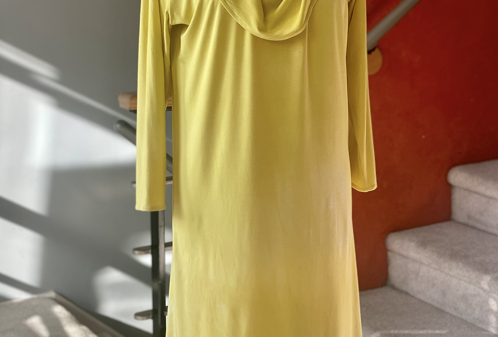 Lemon Yellow Hand Dyed  Bamboo Dress