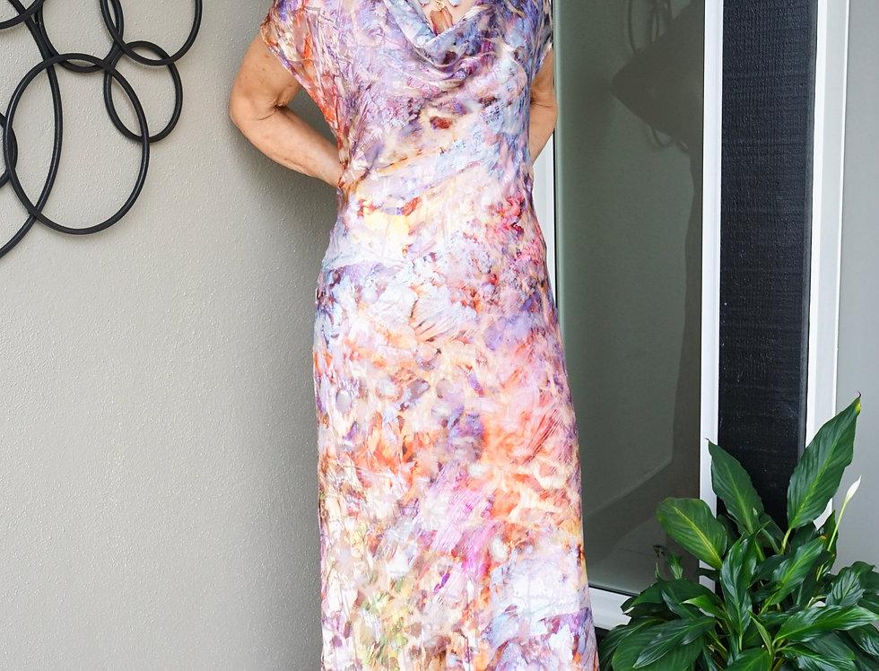 Hand Dyed Silk Bias Dress