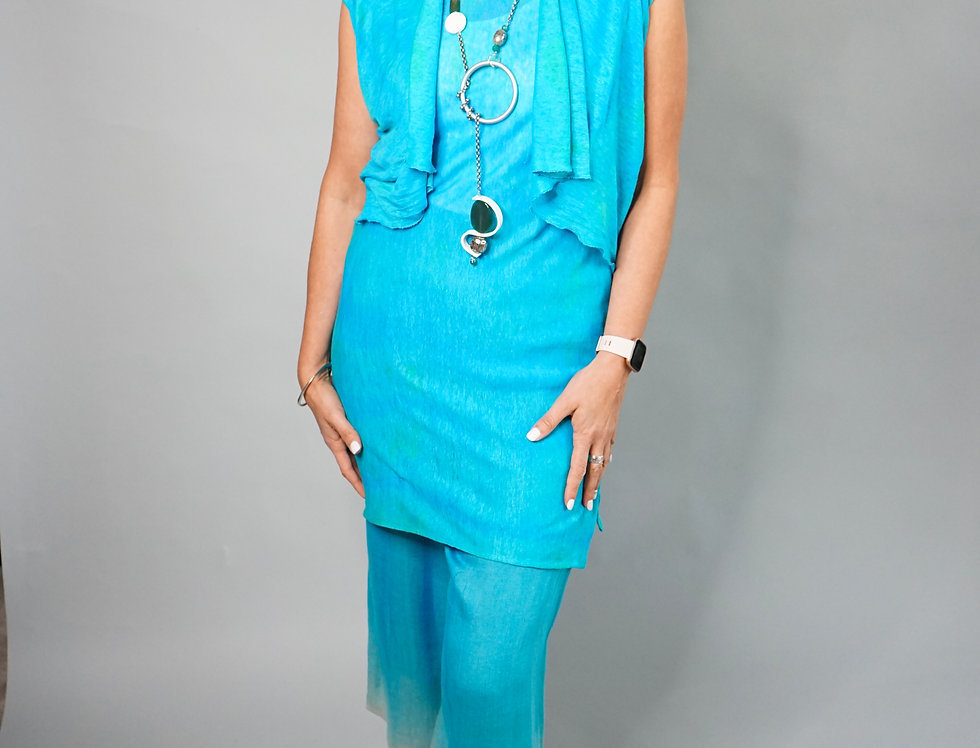 Hand Dyed Linen  Tunic