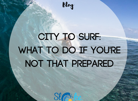 City To Surf: What To Do If You're Not That Prepared (oops!)