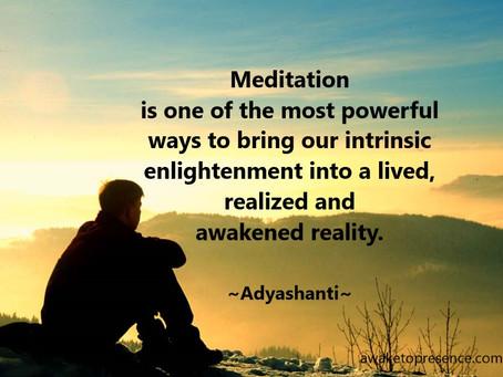 Meditasjon som innvielsesveg, del I