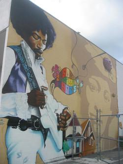 Jimi Hendrix mural vancity 2006
