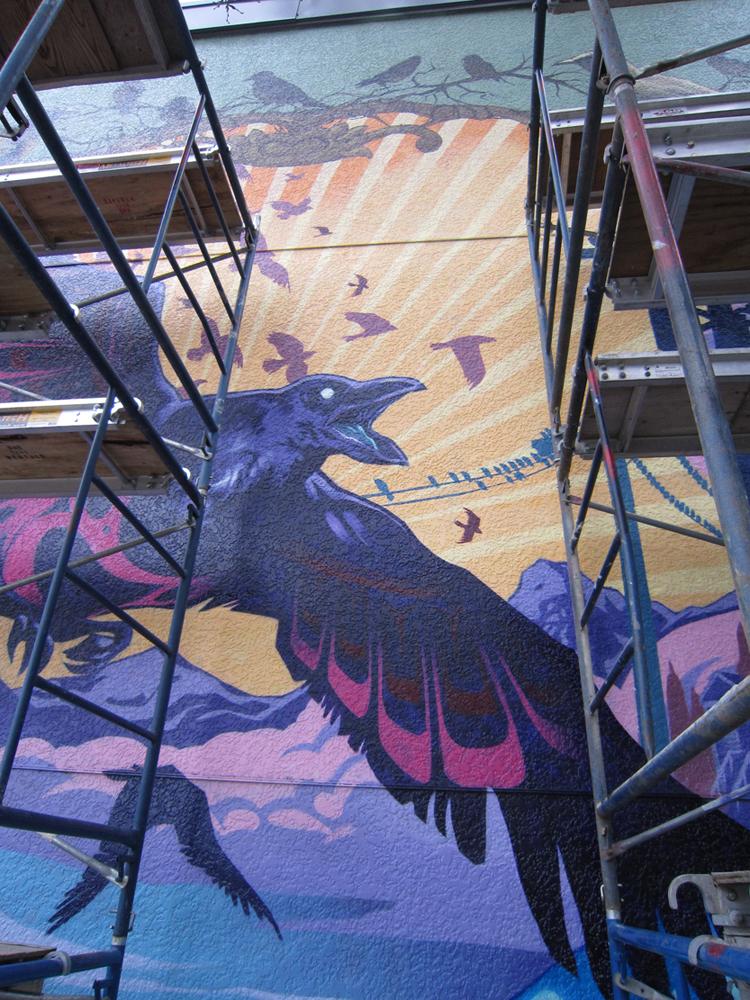 10,000 crows mural vancity