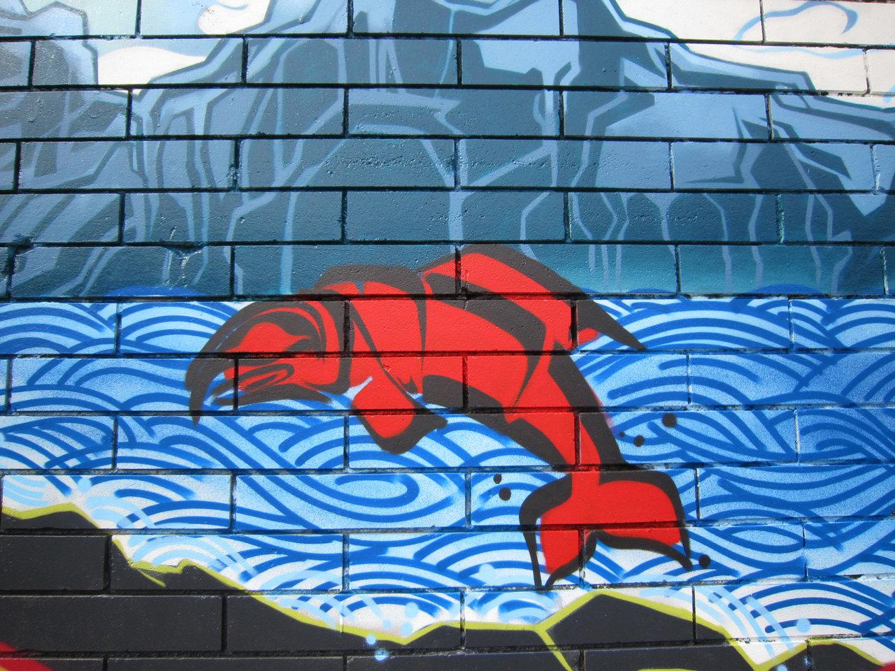 Salmon mural 2010