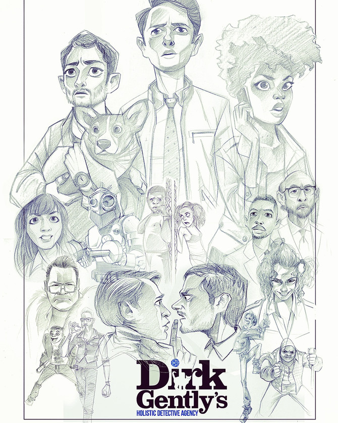 New sketch for Dirk Gently finished