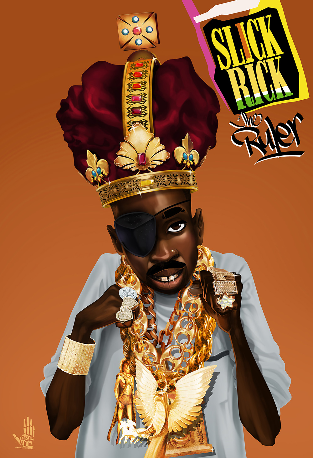 SLICK RICK the Ruler cartoon version