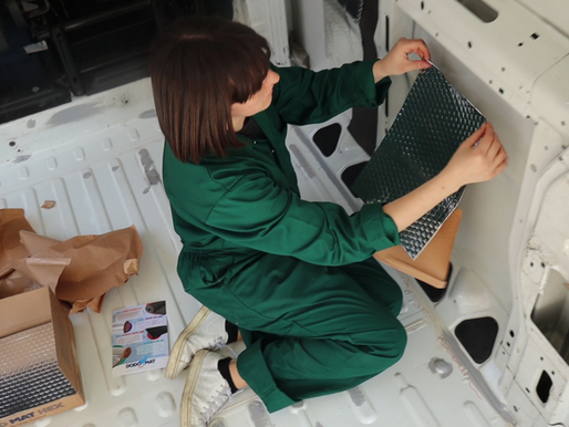 Rustproofing, sound deadening and re-attaching panels