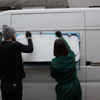 Camper van window fitting - low cost DIY method